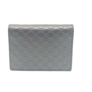 Gucci Micro Gg Leather Unisex Wallet